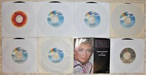 """Barbara Mandrell, 8 Vinyl Record Lot, All 7"""" Singles & US 1st Press, Nashville"""