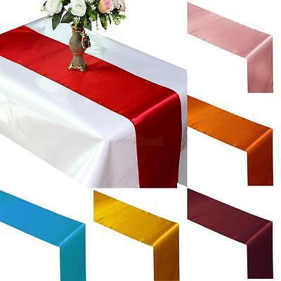 Satin Table Runner Wedding Christmas Party Banquet Venue Decor Home Tablecloth
