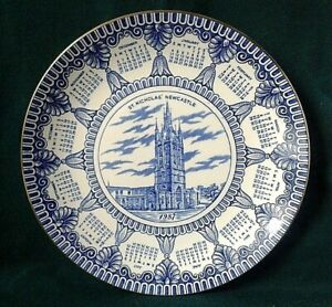 MASONS-PLATE-IRONSTONE-CHINA-CALENDAR-PLATE-RINGTONS-1987-ST-NICHOLAS-CATHEDRAL