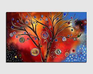 quadri moderni astratti dipinti a mano albero stilizzato