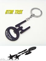 Star Trek Ncc 1701 Key Chain Enterprise Black Collectible Comiccon Spock Kirk