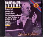 Bruno WALTER: BRAHMS Symphony No.3 Haydn Variations CBS CD Sinfonie Columbia