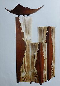 Das Bild Wird Geladen Holz Saeule Ramses Landhaus Dekoration  Wohnen Schale Edelrost