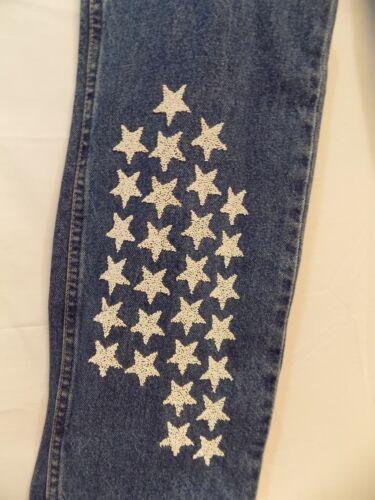 da da Blue impreziosite New con Wrangler Jeans donna stelle donna da 672787569140 slim fit taglio 7x36 axqwOzxF