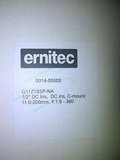 Ernitec Q11Z18SPNA-1/2 11-200mm F1.9-F360, 0014-05502 C mount 1/2 zoom CCTV LENS
