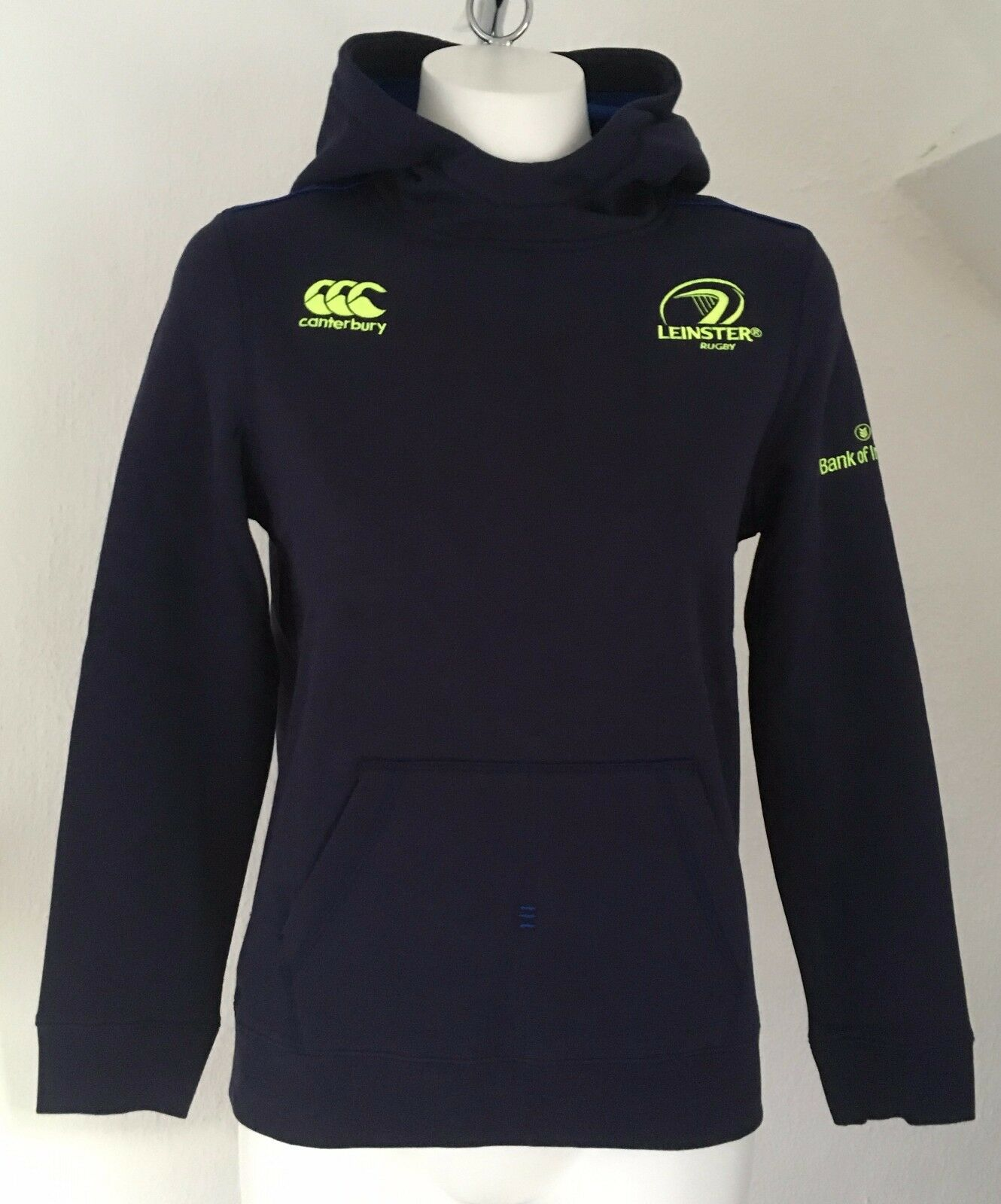 LEINSTER RUGBY PEACOAT OTH TRAINING HOODY BY CANTERBURY SIZE BOYS 14 YEARS NEW