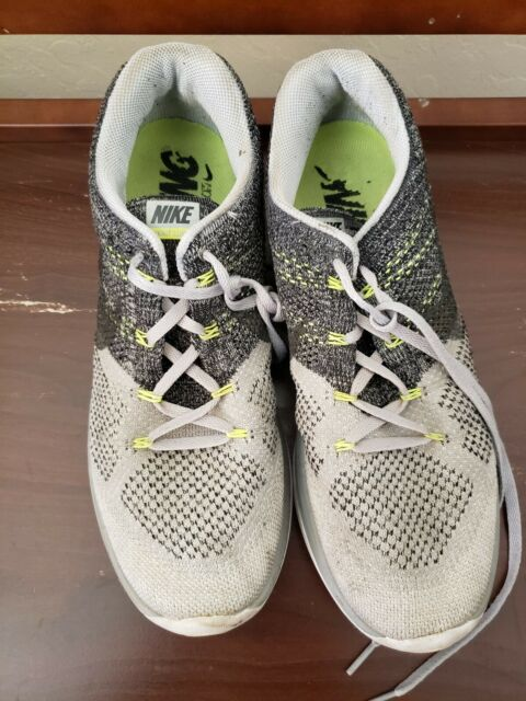 detailed look 14d03 fe4d8 Mens Nike Flyknit Lunar 3 698181-009 Wolf Grey Black/White 11.5 RARE MSRP  $150