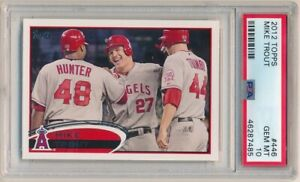 MIKE-TROUT-2012-TOPPS-BASEBALL-CARD-446-LOS-ANGELES-ANGELS-SP-PSA-10-GEM-MINT