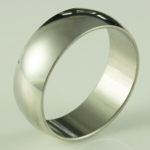 8mm-Stainless-Steel-Mens-amp-Womens-Wedding-Band-New-Silver-Ring-Sizes-J-to-Z-2