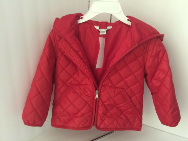 99b2783e1 ralph Lauren Infant Girls Cruise I Red Hooded Quilted Jacket Size ...