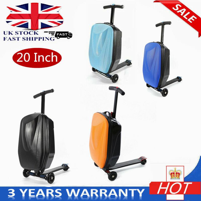 Trolley Custodia Con Scooter Cool Borsa Da Viaggio Custodia Diverdeente Valigia con Ruote UK