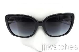 d4497417b6 New Burberry Cat Eye Polish Black Gray Gradient Sunglasses BE4160 ...