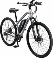Schwinn Mens 700c Sycamore 350-Watt E-Bike Electric Bicycle (Silver)