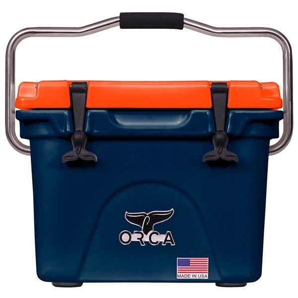 Orca 20 Qt Azul Marino y Naranja Cooler Garantía De Por Vida