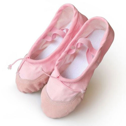 Girl Child Adult Lady Canvas Ballet Dance Shoes Slippers Pointe Dance Gymnastics