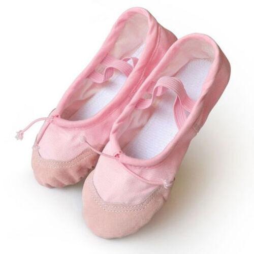Enfant Fille Femmes Adultes Toile Danse Classique Ballet Chaussons Chaussures