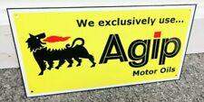 Agip Oil Gas Lamborghini Ferrari Lancia Alfa Italian Racing  ManCave Garage Sign