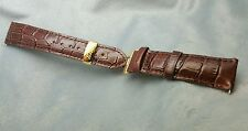 20mm tissot gents mens watch leather strap deployment gold plate clasp bracelet