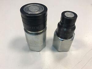 Hydraulik-Pneumatisch-Flach-Kupplungsmuffe-und-Steckkupplung-3-4-034-DN16-IG