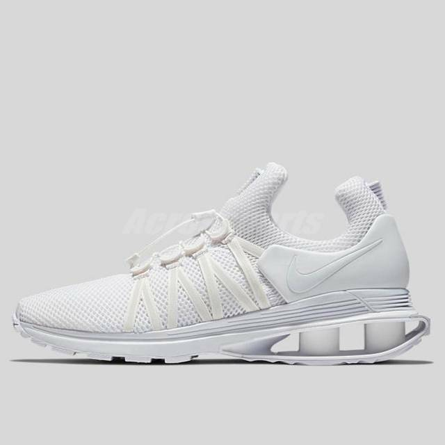 fa2e58aaa780f9 Men s Nike Shox Gravity Running Shoes Triple White Ar1999 100 Size 10 for  sale online