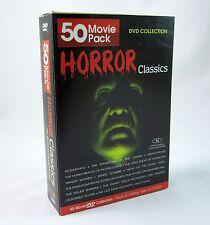 Horror Classics DVD Collection 50 Movies Nosferatu Phantom Hunchback Zombies