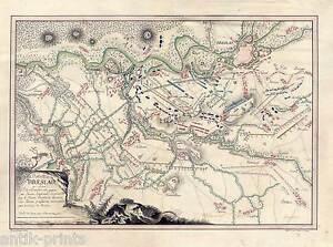 Battaile-de-Breslau-Schlesien-Polen-Polska-Manuskriptkarte-1783-Unikat-Zeichnung