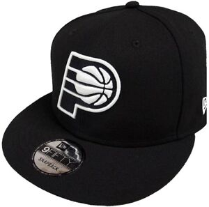 New Era Indiana Pacers NBA Black White Logo 9fifty Snapback Cap ... 51d6dd3220d