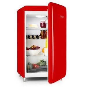 Standkühlschrank Single Kühlschrank Retro Style Bar Mini 136L EEK A 50er Rot