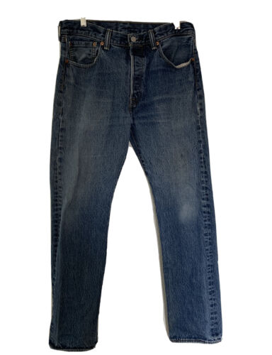 Vintage Levi's 501 Button Fly Distressed Jeans Me… - image 1