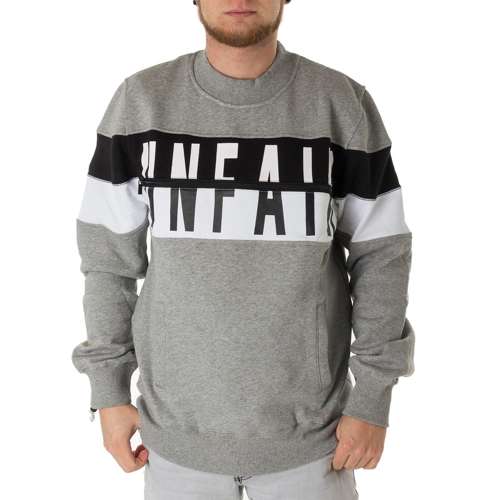 Unfair Athletics Sweater Contrast Herren Sweatpulli Heather Grau 33689