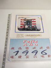 "Original Spanish ""Lambretta Club Of Spain"" 1996 Calendar Complete Good Used"