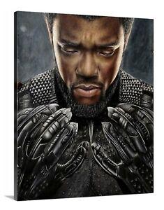 Black Panther Canvas 16x20 Chadwick Boseman Movie Wall Art Superhero Wakanda Rip Ebay