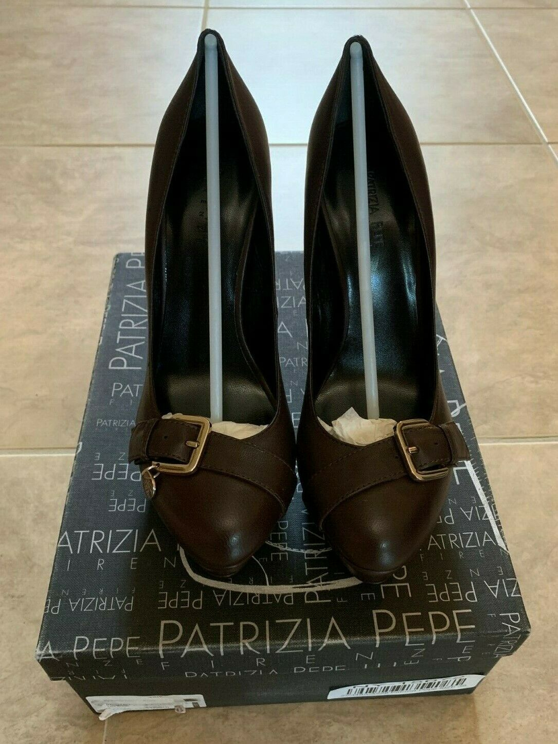 Patrizia Pepe marrón Closed Toe High Heels Brand NEW in Box EUR 39 US 9