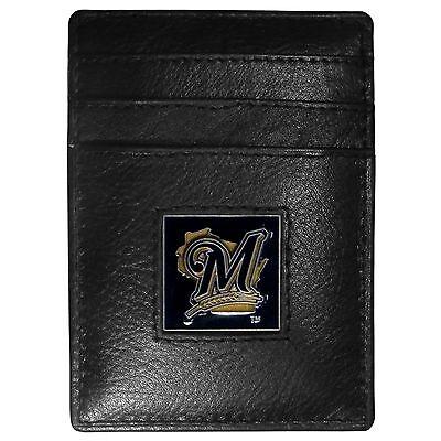 Weitere Ballsportarten Schneidig Milwaukee Brewers Mlb Feine Vollleder Kartenhalter Geldklammer Portemonnaie