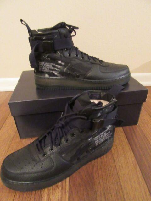 finest selection 11a36 fccfa Nike SF AF1 MID QS Size 10.5 Black Black Cargo Khaki AA7345 001 Urban  Utility DS