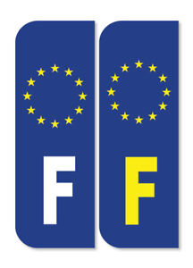 2 X France French Euro Car Number Plate Vinyl Stickers Ebay