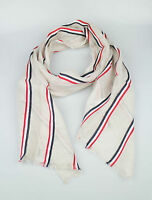 New. Brooks Brothers Black Fleece By Thom Browne Brown Cotton Blend Scarf $95 on sale