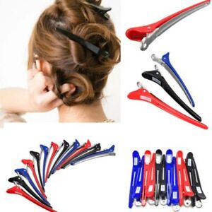 12pcs Metal Professional Hairdressing Salon Section Hair Clips