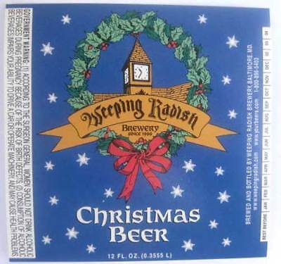 NORTH CAROLINA 4 Different WEEPING RADISH BREWERY Beer Labels Manteo
