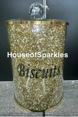 CRUSHED DIAMOND BLACK/&SILVER CRYSTAL BIG BISCUIT BIN