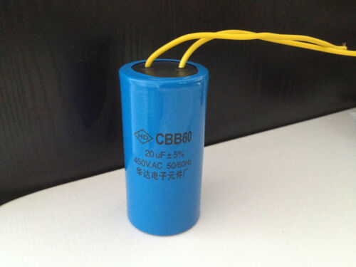 AC Motor Capacitor Washing Machine Start Capacitor CBB60 450VAC 20uF
