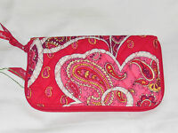Vera Bradley Zip-around Wallet In Rosy Posies Wristlet Clutch