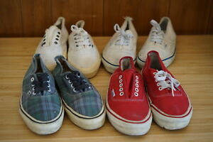 003723f3b8 VINTAGE VANS SHOES MADE IN USA VAN DOREN 90 s AUTHENTICS LOT OF 4 ...
