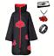 Indexbild 10 - Naruto AKATSUKI ROBE Cloak Uchiha Itachi Cosplay Costume Claok Cape Unisex S-XXL