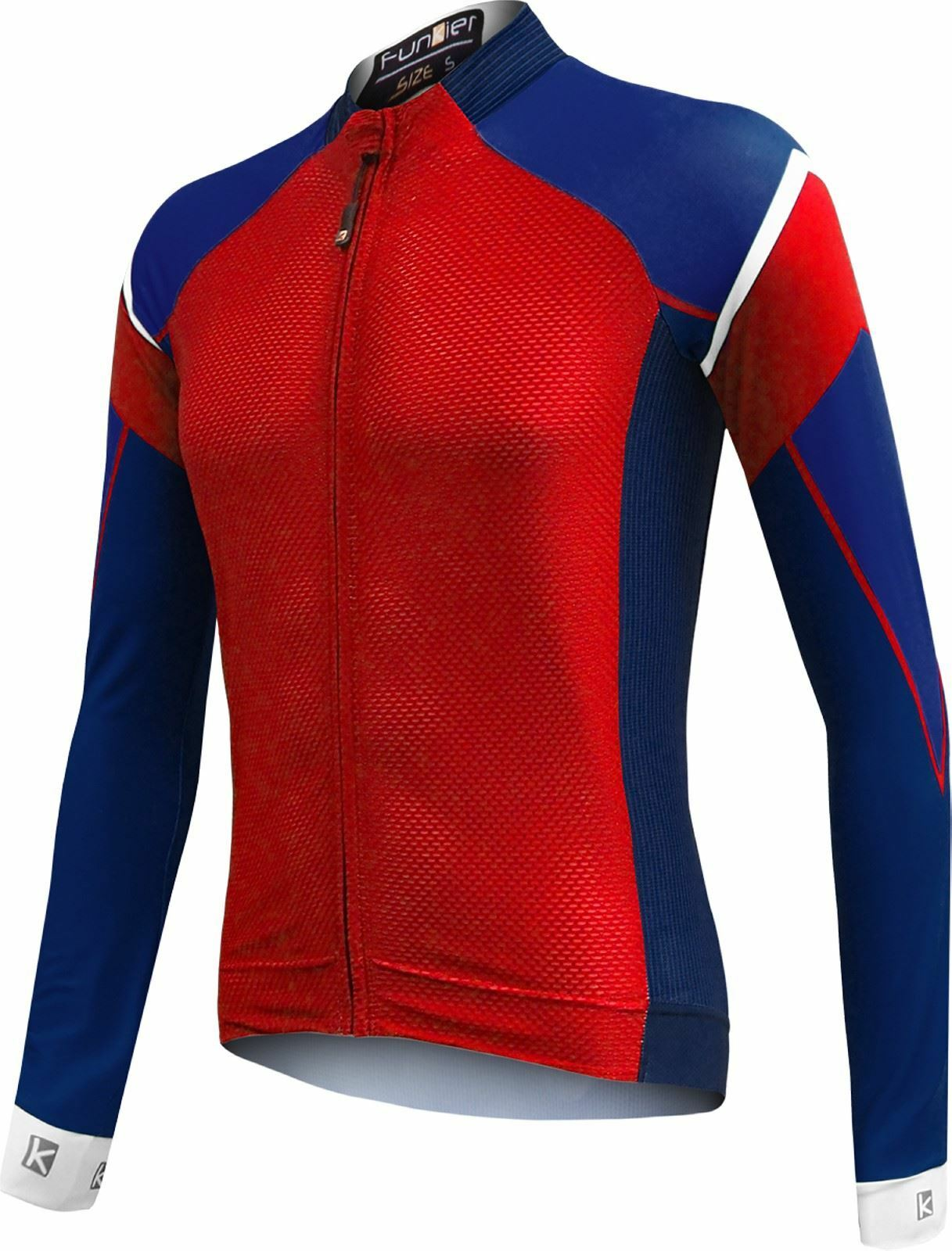 Funkier Isparo Gents Elite Long Sleeve Jersey in Red bluee (J-801-LW) XX-Large
