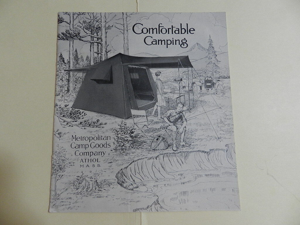 VINTAGE 1928 CAMP GOODS COMPANY CATALOG-  VINTAGE OUTDOORS CATALOG- CAMPING  here has the latest