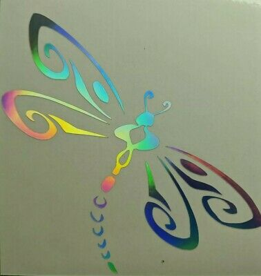 5 by 5 Translucent Window Sticker//Decal Celestial Dragonfly