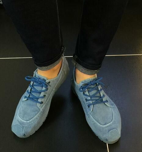 Retro Mens Lace Up Comfort Denim Casual  Athletic Breathable Shoes Chic Sneakers