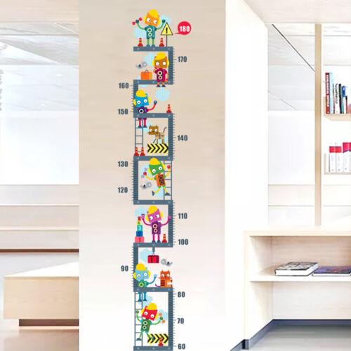 Children Animal Height Growth Chart Measure Wall Sticker Kids Room Decor Decal