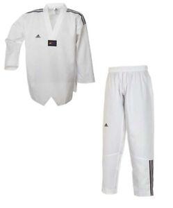 Adidas Taekwondoanzug Adiclub 3S. In 160-170cm, weißes Rev. Für Fortgeschrittene